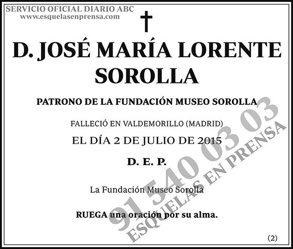 José María Lorente Sorolla